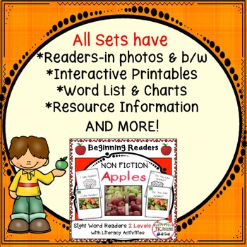 FALL Non-fiction Beginning Readers for Guided Reading