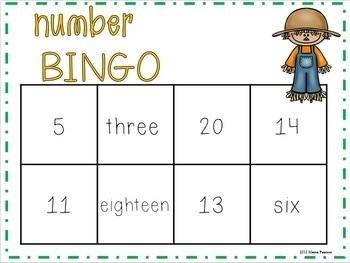 FALL Number Bingo
