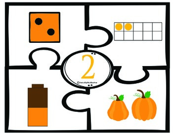 FALL Number puzzles - number recognition and counting