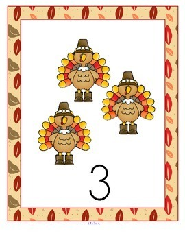 THANKSGIVING Number Centers Preschool