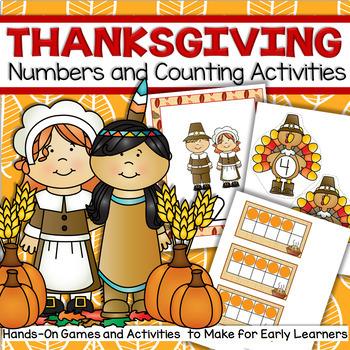THANKSGIVING Number Centers Preschool
