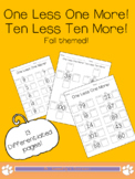 FALL: One Less One More! Ten Less Ten More! (PUMPKIN THEMED)