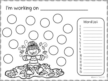 FALL Open Ended Worksheets *Dollar Deal*