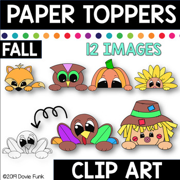 FALL  Paper Toppers Clip Art THANKSGIVING
