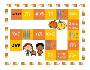 FALL Place Value Board Game!