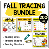 Pre Writing Activities Fall Theme Preschool BUNDLE