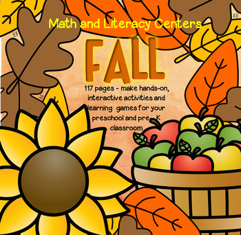 FALL Math and Literacy Centers and Activities for Preschoo