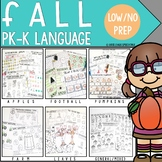 FALL Preschool Language Low to No Prep