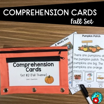 FALL READING COMPREHENSION CARDS