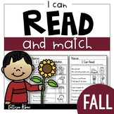 FALL Reading Comprehension Skills - Read and Match [I Can Read]