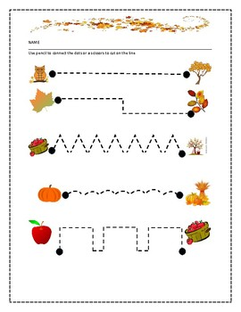 FALL FREEBIE:   LINES TO CUT OR DRAW