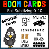 FALL SUBITIZING TO 10: BOOM CARDS