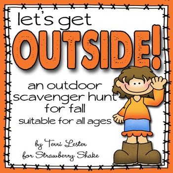 FALL Scavenger Hunt - GET OUTSIDE and EXPLORE!