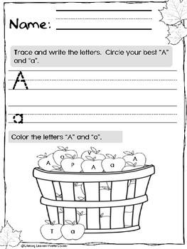FALL Season Literacy and Math Pre-K (Print and Go)