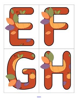 FALL Alphabet - FREE