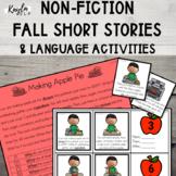 {FALL} Non-Fiction Short Stories + Language Activities!