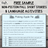{FALL FREEBIE} Non-Fiction Short Story + Language Activiti