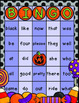 FALL  Sight Word Bingo Halloween Theme (with Dolch Primer Words)