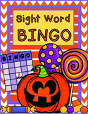 FALL Sight Word Halloween Bingo with Pre-Primer Dolch Sight Words