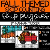 FALL Skip Counting Strip Puzzles
