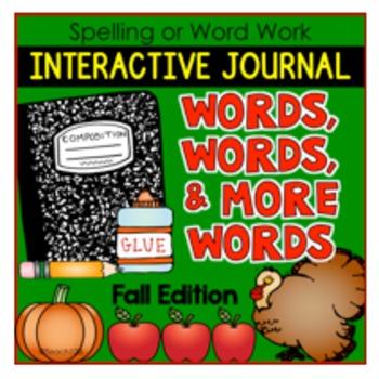 Fall Word Work Foldables Spelling Grammar Vocabulary