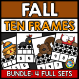 FALL ACTIVITIES KINDERGARTEN, PRESCHOOL MATH (TEN FRAMES GAME NUMBERS 1-10)