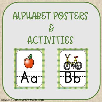 FALL THEMED ALPHABET POSTER ACTIVITIES