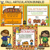 FALL ARTICULATION BUNDLE: L, S, R, V, TH, SH, V, + 4 & 5 SYLLABLE WORDS