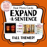 FALL THEMED Expand-A-Sentence Photo Cards for Speech and L