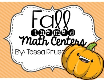 FALL THEMED MATH CENTERS