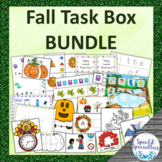 FALL Task Boxes BUNDLE - Back-to-School, Thanksgiving, Hal
