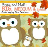 Fall Sort by Size Center - Preschool Math