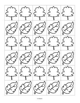 FALL LEAVES Counting, Drawing and Writing 1-10