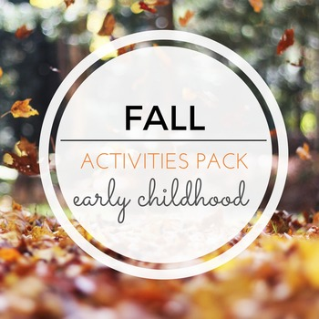 FALL Themed Montessori Inspired Activities Pack