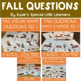 FALL WH QUESTION BUNDLE FOR AUTISM SPECIAL ED & SPEECH