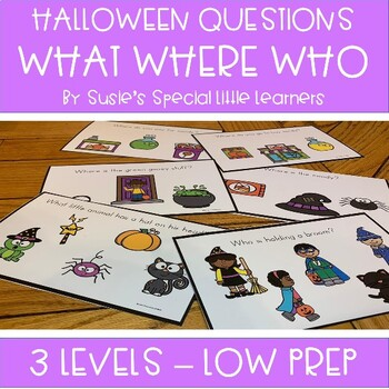 HALLOWEEN  WH QUESTIONS FOR AUTISM SPECIAL EDUCATION AND SPEECH THERAPY