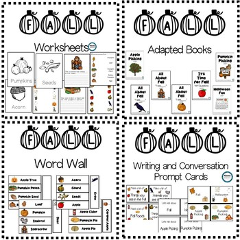 FALL Vocabulary Unit (sped/autism/elementary)