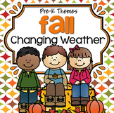 FALL WEATHER Theme Unit Math and Literacy Activities and Centers Preschool