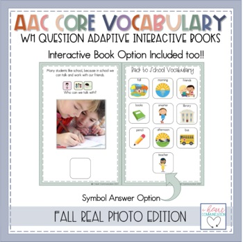 "FALL ""WH"" Question Interactive Adaptive Books"