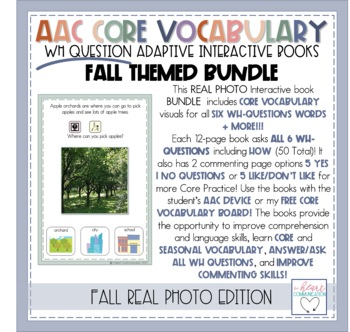 """FALL """"WH"""" Question Interactive Adaptive Books"""