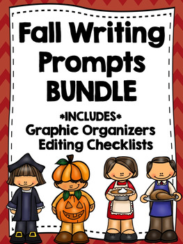 FALL WRITING PROMPTS BUNDLE--Back to School-Columbus Day-Halloween-Thanksgiving