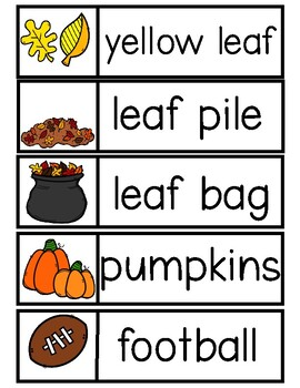 FALL Word Cards {Capital & Lowercase}