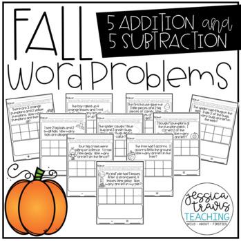 FALL Word Problems FREEBIE