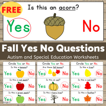 FALL Yes/No Questions - FREE by Angie S