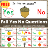 FREE Fall Activity -  Yes No Questions for Speech Therapy