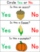 FALL Yes/No Questions - FREE