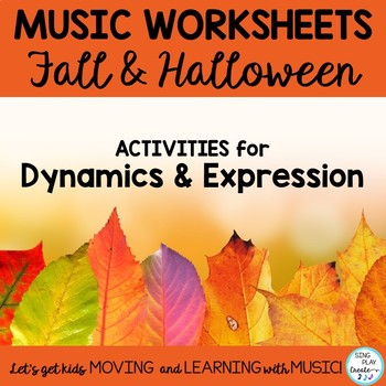 Halloween and Fall  Music Class Listening and Coloring Gly