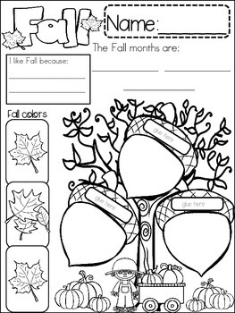 FALL {{quick topics}} one interactive worksheet