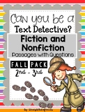 FALL themed Text EVIDENCE Detectives 2nd - 3rd Grade CLOSE Reading