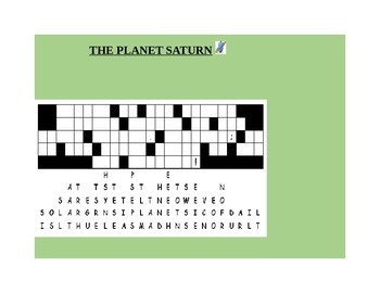 FALLEN PHRASE PUZZLE: THE PLANET SATURN